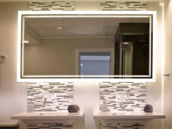 Подсветка зеркала в ванной из светодиодов