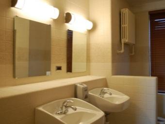 Настенное зеркало с подсветкой в ванной
