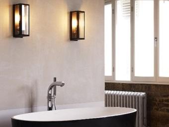 Дизайн настенных бра для ванной
