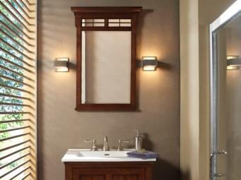 Дизайн бра в ванной комнате