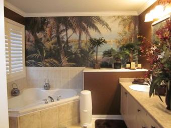 Фотообои для ванной с природной тематикой