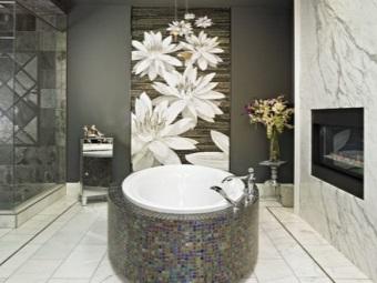 Достоинства фотообоев для ванной комнаты