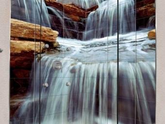 Преимущества фотообоев для ванной