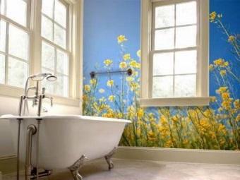 Советы по выбору фотообоев для ванной