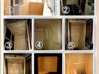 Этапы постройки сауны в квартире своими руками на балконе