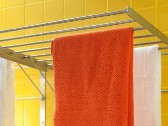 Металлические сушилки для белья в ванную