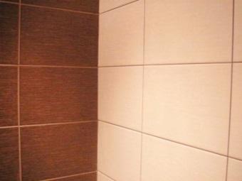 Эффектное сочетание цвета плитки и затирки для плитки в ванной