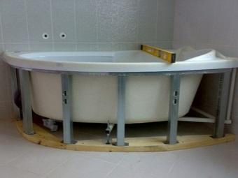 Каркас для ванной округлой формы