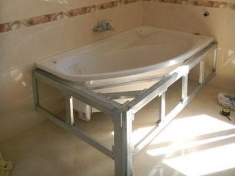 Каркас для полукруглой ванны