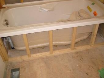 Каркас для ванны из бруса
