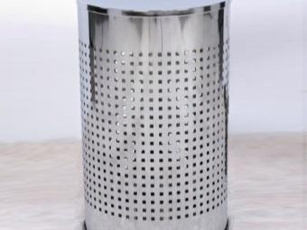 Металлическая корзина для белья для ванной