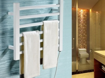 Электрическая настенная сушилка для белья в ванную
