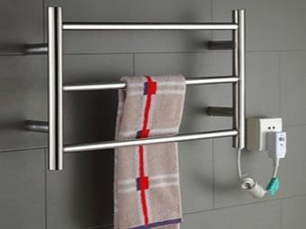Электрическая сушилка для белья в ванной