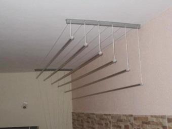 Настенно-потолочные сушилки для белья в ванную