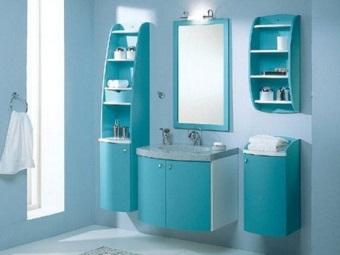 Преимущества шкафа-пенала для ванной