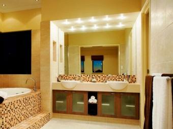 светодиодные точечные светильники для зеркала в ванной
