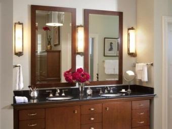 Настенные околозеральные светильники для ванной