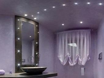 Достоинства встроенных светильников для ванной