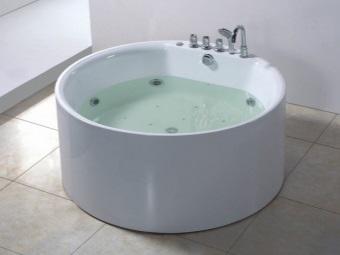 Популярные размеры круглых ванн
