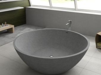 Круглая ванна и её размеры