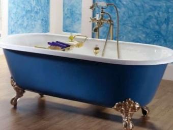 Чугунная ванна отдельностоящая