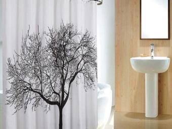 Шторка для ванны с большим рисунком