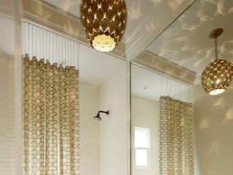 Цепочки для крепления шторки в ванной
