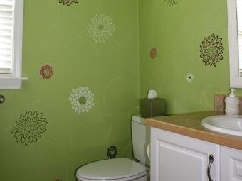 Техника декупаж для росписи стен в ванной