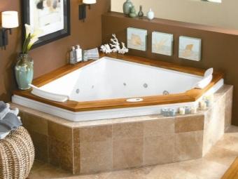 Треугольная ванна и её дизайн