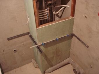 Угловой короб в ванной комнате своими руками