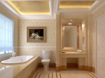 Греческий стиль в ванной комнате