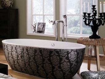 Ванна в стиле барокко для ванной комнаты