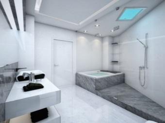 Интерьер ванной комнаты присущий стилю хай-тек