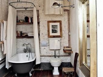 Особенности ретро стиля для ванной