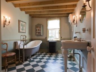 Цветовая гамма ретро стиля в ванной