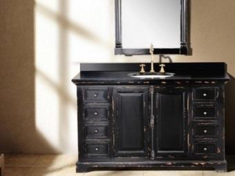 Мебель для ванной комнаты в стиле ретро