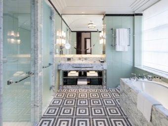 Цветовая гамма стиля арт-деко для ванной