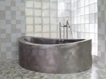 Овальная ванна из нержавеющей стали для ванной