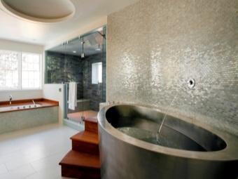 Овальная ванна из нержавеющей стали