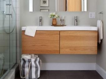 Подвесные тумбы с одной раковиной для ванной комнаты - их преимущества