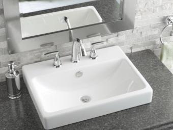Популярная ширина прямоугольного умывальника для ванной