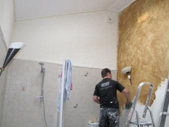 Штукатурка стен в ванной