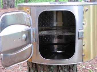 Коптильня из старой стиральной машины
