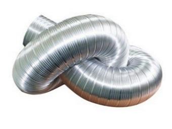 Гофрированный гибкий воздуховод для газовой колонки