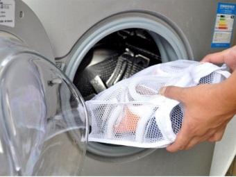 Стирка обуви в стиральной машине с использованием специальных мешков