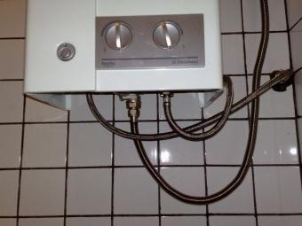 Правильно подключенная газовая колонка