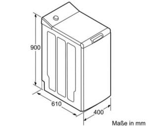 Габариты стиральной машины с вертикальным типом загрузки