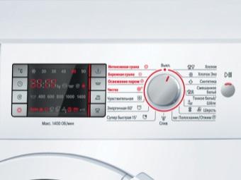 Панель управления стиральной машины с функцией сушки белья