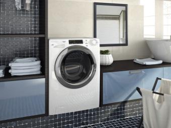 узкая стиральная машина с фронтальной загрузкой