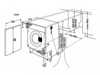схема встраивания стиральной машины